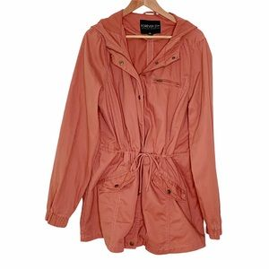 Forever 21 Plus Utility Field Anorak Hooded Jacket